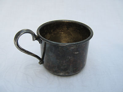 VTG Silver Plate Baby Cup Made In Canada Viking Plate E.P. Copper Lead Mounts