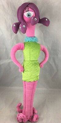 """Celia Mae Monsters Inc Plush Doll Cyclops Snakes Hair Disney Store Authentic 16"""""""
