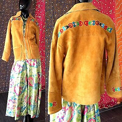 Vintage 40s Native American Jacket Beaded Ojibwe Leather Buckskin Moosehide