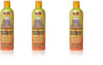 (Pack of 3) African Pride Shea Butter Miracle Detangling Shampoo, 12 Ounce