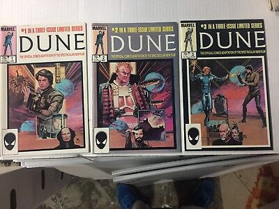 DUNE #1-3, Marvel Comics Complete Series, FREE SHIPPING