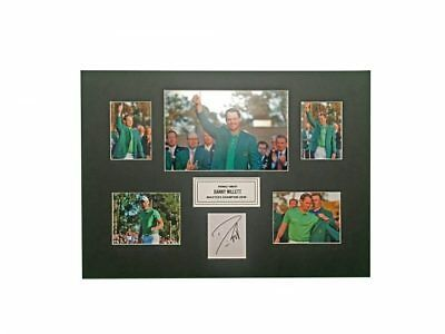 Danny Willet Signed Masters Champion 2016 Golf Display *rare* + *coa*