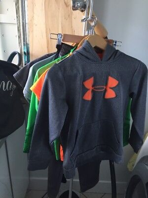 Under Armour Storm Hoodie Shirts Pants Half Zip Boys XS 6-7 Lot Of 6