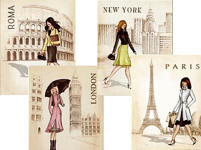 SHaBbY PaRiS AParTmeNT TRaVeL PoSTeR WaTerSLiDe DeCALs