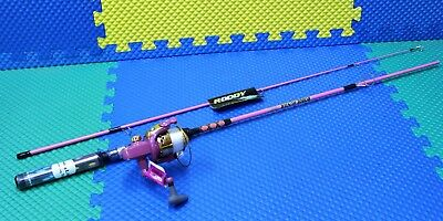 Master Roddy Hunter 6' PINK Rod and Reel Spinning Combo Lites UP DN446-WL RHP60