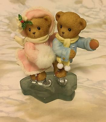 "Cherished Teddies Monika & Joerg, ""Gliding Through Holidays..."", 4010087, MIB"