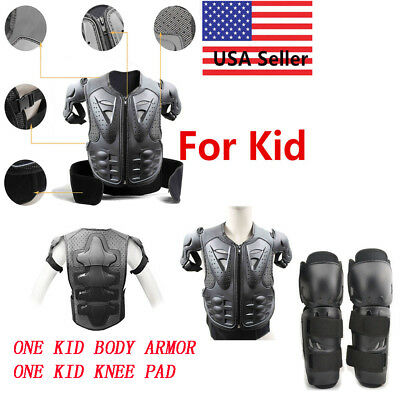 Motocross Kids Youth Body Armour Motor Dirt Bike Quad Protector Knee Pad Gear