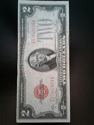 1928 Red Seal Two Dollar Bill Mint