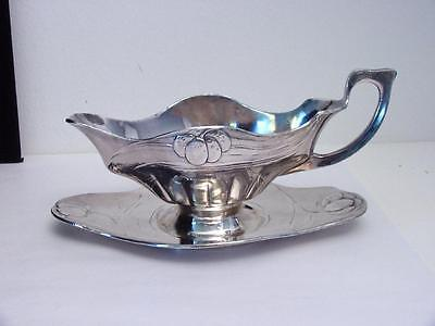 antique silver plated sauce boat Orivit