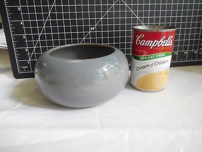 California Faience Bowl Gray-Blue With Rare Cross-Hatched interior Superb N/R