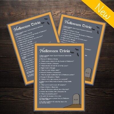 Halloween Trivia Quiz - Spooky Childrens or Adults Party Game - 10 Player!