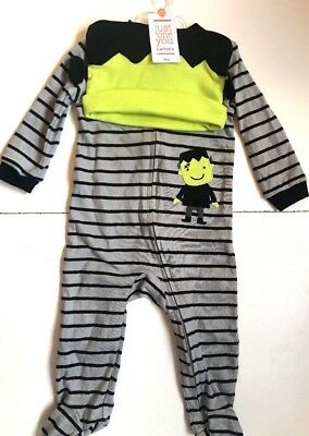 Nwt Halloween Carter's Just One You Frankenstein Monster Infant Outfit Hat 9M