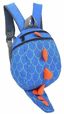 Zhuannian Toddler Kids Dinosaur Backpack with Leash Blue