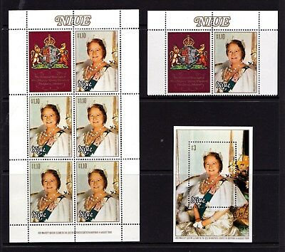 Niue 1980 Queen Mother 80th Birthday Stamp, Minisheet, Sheet MNH