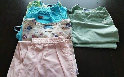 Womans Lot Of Scrub Sets, 3Tops, 3 Pants, Very Nice     Size M