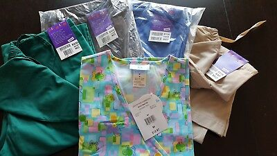 Womans Lot Of Scrub, 1 Top, 4 Pants, Very Nice     Size M