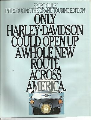 1986 - Harley Davidson Sport Glide - Grand Touring Edition - Motorcycle Brochure