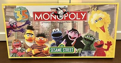 Sesame Street Monopoly Complete Game- 2004 - 35th Anniversary Edition - Rare!