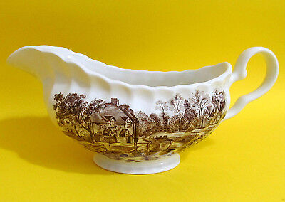 Gravy Boat Cotswold brown England Vintage Johnson Bros. Town Scenes 1979