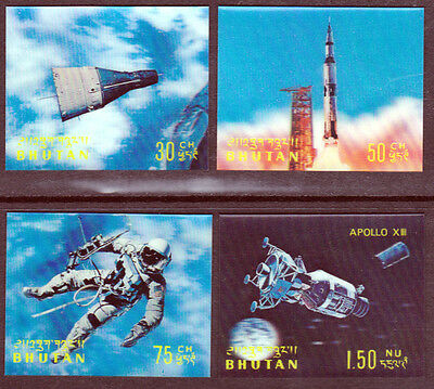 Bhutan 1968 Mint (NH) 3D Stamps - Conquest Of Space (AA_43)