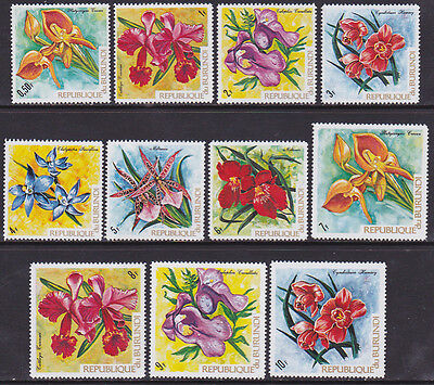 Burundi #411 to 421 Mint (VLH) Flowers (X_87)