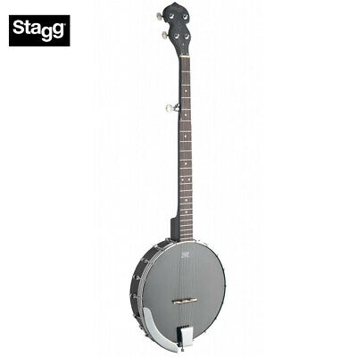 NEW STAGG 5-STRING OPEN BACK BANJO w/ BLACK REMO HEAD - BJW-OPEN