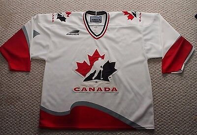 Team Canada Mens Hockey Jersey - Bauer Authentic  - XL - Blank - White