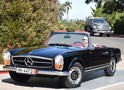 1968 Mercedes-Benz SL-Class  CALIFORNIACLASSIX 1968 Mercedes-Benz 280SL 2-Top Roadster with 4-Speed Stick!