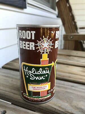 HOLIDAY INN Root Beer Soda Can Pull Top GREAT GRAPHICS!! AWESOME!