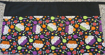 Sparkly Halloween Cupcakes Server/waitress/3 Pocket Half Apron Restaurant