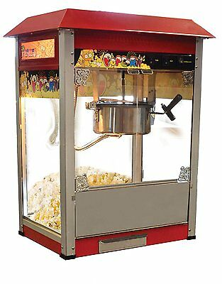Omacan 11391 VBG802 Stainless Steel Commercial Popcorn Machine Tempered Glass