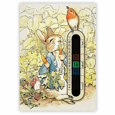 Peter Rabbit Child and Baby Room and Nursery Thermometer