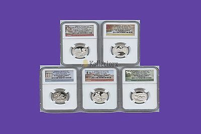 2017 S Silver Quarters Set America The Beautiful Proof Ngc Pf70 Early Releases