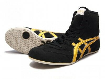 ASICS Wrestling Boxing Shoes EX-EO TWR900 Black x Gold From Japan Fast Shipping
