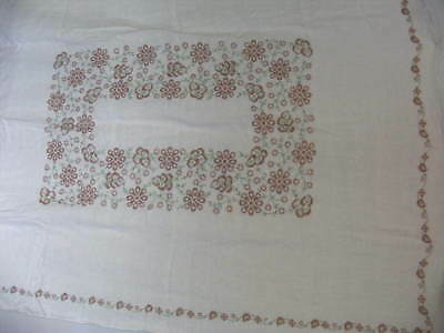 Table Cloth and Napkins,Hand Embroidered Floral Design,TBC&N,