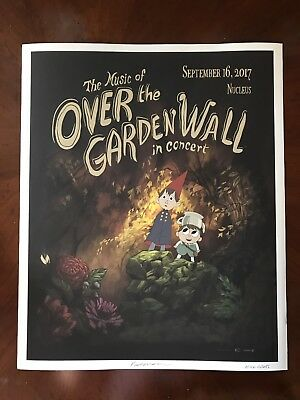 SIGNED X2 Over the Garden Wall In Concert EXCLUSIVE Poster 15x20 Patrick McHale