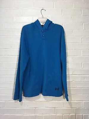 Men's Under Armour Hoodie Size Large Blue Long Sleeve Pull Over Sweatshirt
