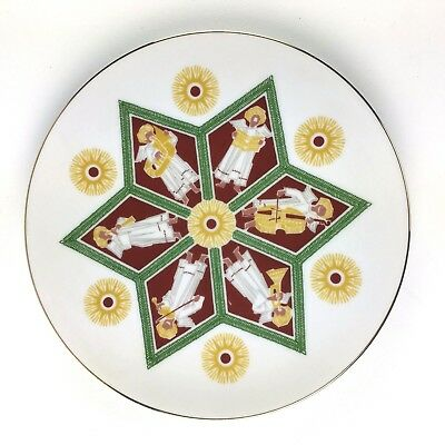 Heinrich H&C Christmas Plate Musical Angels Star of David Selb Bavaria Germany