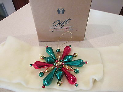 "Avon Rare Shimmering Glass Bead Christmas Ornament - 3"" (1999)"