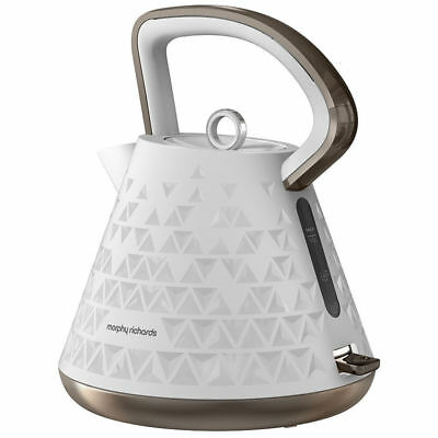 Morphy Richards 108102 Prism White Kettle Traditional Cordless Whistle 1.5L 2200