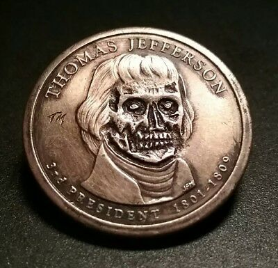 Jefferson Zombie Monster Hobo Nickel Dollar Auction