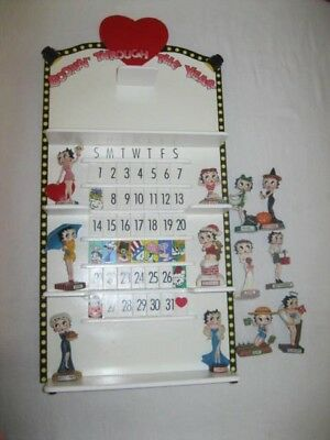Betty Boop Perpetual Calendar, complete with all figurines