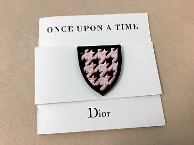 "Christian DIOR ""Once Upon A Time"" Brooch Badge Pin with Brochure - Collectible"