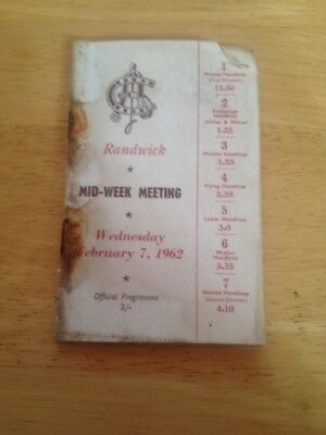 Race Book - Randwick 1962