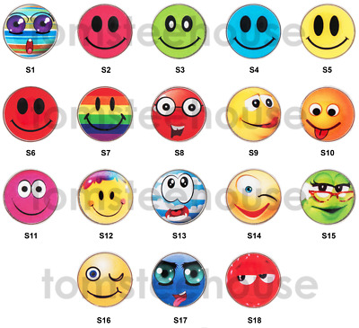 """18 x Magnetic Hat Clip + 18 x """"Smiley""""  GOLF BALL MARKER (1 of each)"""