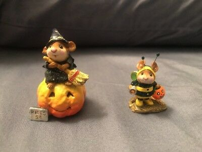 "Wee Forest Folk ""Broom Service"" And Bumble Bee Mouse 2 Pack"