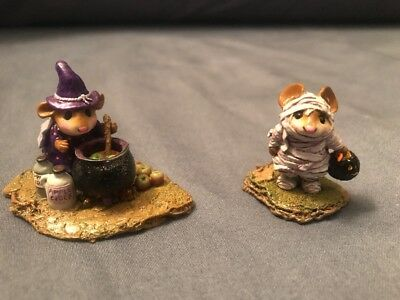 """Wee Forest Folk """"Somethings Brewing"""" Purple And Mummy Mouse 2 Pack"""