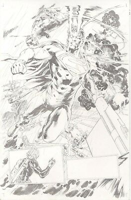 Deathstroke the Terminator  issue 19 page by Carlo Pagulayan featuring Superman