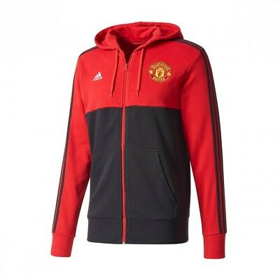 Chaqueta adidas Manchester United FC FZ HD 2017-2018 Black-Red