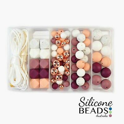 Rose Silicone and Acrylic Bead Starter Kit